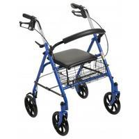 Drive Medical's Durable Four Wheel Rollator with 7.5 inch castors.